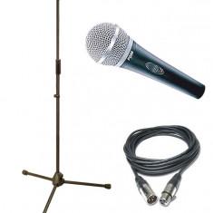 Promotie! Microfon Shure Incorporated SHURE PG58+CABLU+BORSETA+NUCA PRINDERE+STATIV INCLUS.
