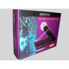SET Microfon Shure Incorporated PROFESIONAL WIRELESS + RECEIVER SHURE SH200+ALIMENTATOR+CABLU+CUTIE.