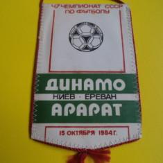 Fanion fotbal DINAMO Kiev - ARARAT Erevan - campionatul URSS 15.10.1984