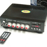 AMFLITUNER PENTRU KARAOKE,60 WATT,AFISAJ LCD,MP3 PLAYER STICK+CARD,RADIO+TELECOMANDA.