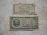 Lot  2  bancnote  diferite  10  lei +  100  lei  1966