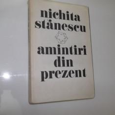 AMINTIRI DIN PREZENT -NICHITA STANESCU - Biografie