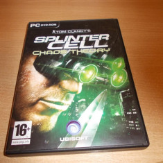 Joc PC original - SPLINTER CELL - Chaos theory / PC games - SPLINTER CELL - Chaos theory / Joc de colectie - SPLINTER CELL - Chaos theory - Jocuri PC Ubisoft, Shooting, 18+, Single player