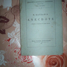N.Batzaria-ANECTODE(an 1935) - Carte veche