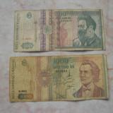 Lot 2 bancnote diferite 500 lei + 1000 lei - Bancnota romaneasca