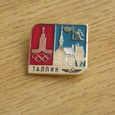 BISPO1 - STRAINA - SPORT - JOCURILE OLIMPICE - CAPITALE - TALIN - ANUL 1980 - Insigna