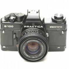 Praktica B100 + Pentacon Prakticar 50mm f1.8 - Aparat Foto cu Film Praktica