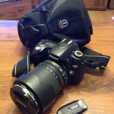 Vand Nikon D80 + obiectiv Nikon 18-105 + accesorii - DSLR Nikon, Kit (cu obiectiv), 10 Mpx, HD