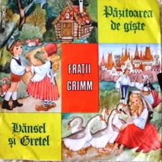 HANSEL SI GRETEL si PAZITOAREA DE GASTE de FRATII GRIMM (DISC VINIL) - Muzica pentru copii electrecord