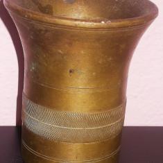 MOJAR VECHI, PIUĂ DIN BRONZ MASIV, LUCRĂTURĂ: DECORAȚIUNI EXTREM DE FINE, 1 KG! - Metal/Fonta, Vase