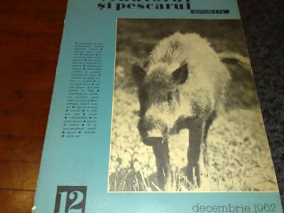 Revista vanatorul si pescarul sportiv  -  decembrie 1962 foto
