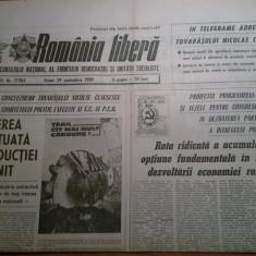 Ziarul romania libera 29 septembrie 1989