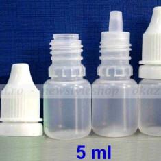 Sticla de plastic 5 ml. - cu picurător pt. E-liquid - Accesoriu tigara electronica