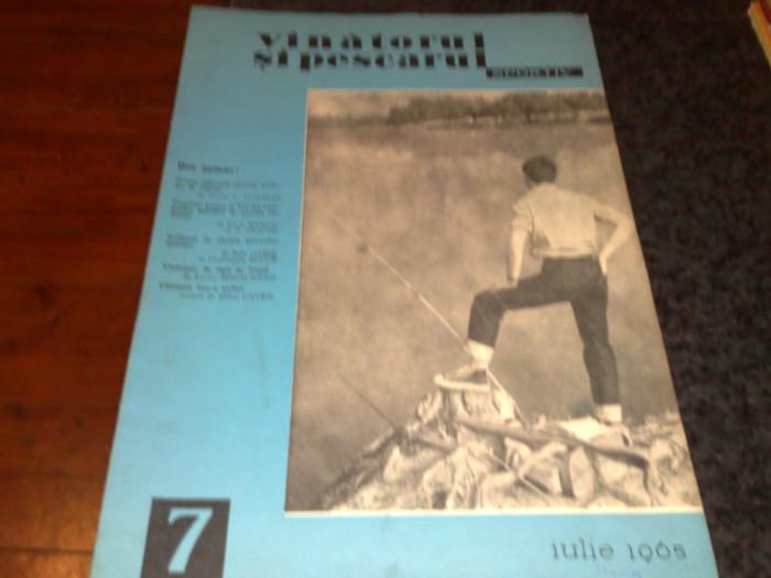 Revista vanatorul si pescarul sportiv  -  iulie 1965 foto mare