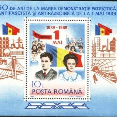 Romania 1989 - ELENA SI NICOLAE CEAUSESCU, colita nestampilata E4 - Timbre Romania, Oameni