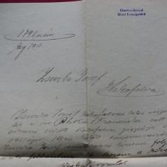 ACT SCRIS DE MANA DIN 1913 CU STAMPILA JUDETULUI CARAS SEVERIN - Pasaport/Document