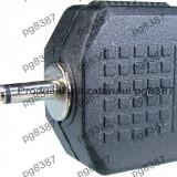 Adaptor jack tata 2,5 mm mono - 2 x jack mama 3,5 mm mono - 126631