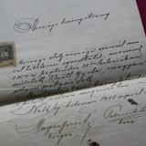 ACT OFICIAL 1908 CU TIMBRU SI STAMPILA  + PLIC DIN 1907