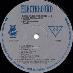 Orchestra Electrecord_Alexandru Imre - Tangouri Celebre 1 / I (Vinyl) - Muzica Latino electrecord, VINIL