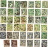 Lot 41 timbre Franta 1876 - 1900 Grup Alegoric Pacea si Comertul tip Sage