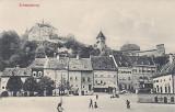 Ilustrata Sighisoara 1909 ,case vechi,animata,circulata