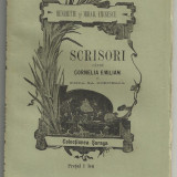Henriette si Mihail Eminescu / SCRISORI CATRE CORNELIA EMILIAN SI FIICA SA CORNELIA - editia I, 1893, Fratii Saraga, Iasi - Carte Editie princeps