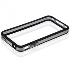 BUMPER Protectie Alternativa Husa Foarte Subtire iPhone 4 / 4s Silicon TPU + Folie Protectie + CAPAC PROTECTIE ORIFICIU INCARCARE SI CAS - Bumper Telefon