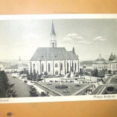Carte Postala Cluj Kolozsvar Matyas kiraly - ter - Carte Postala Transilvania dupa 1918, Circulata, Printata