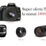 Canon 400D PACHET COMPLET!!! - DSLR Canon, Kit (cu obiectiv), 10 Mpx