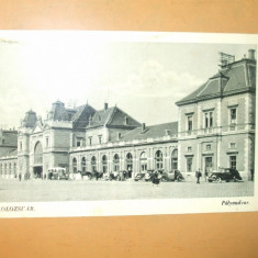 Carte Postala Cluj Gara Kolozsvar Palyaudvar - Carte Postala Transilvania dupa 1918, Necirculata, Printata