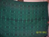 covor din lana traditional autentic  taranesc, tesut manual la razboi, cu model geometric  verde, Ardeal/ Transilvania-Alba, 1950