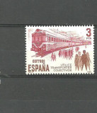 SPANIA 1980 - LOCOMOTIVA ELECTRICA, TRENURI, timbru nestampilat, B27, Transporturi