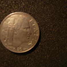 20 Centisimi 1940, Italia, met.alb magnetic, cal.Buna, d=2, 1cm.