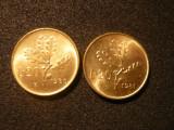 20 Lire Italia , 1980 si 1981 ,alama ,necirc. ,d=2,1cm.