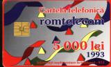 Cartela telefonica romtelecom Desen Abstract, Rom 02c