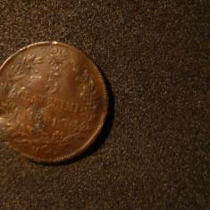 5 Centisimi 1861, M(Milano), Italia, cal.mediocra, d=2, 5cm.