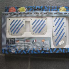 Set ornamente pedale 3 piese ALU-LOOK - albastru Foliatec - Pedale tuning