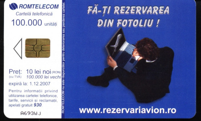 Cartela telefonica romtelecom Eximtur, Rom 309a
