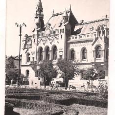 Carte postala- ORADEA-Biblioteca regionala - Carte Postala Crisana dupa 1918, Circulata, Fotografie