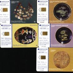 Set de 5 cartele telefonice romtelecom Muzeul Taranului roman