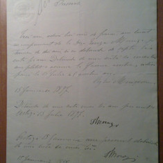 Document in limba romana 1901 timbru fix - Pasaport/Document, Romania 1900 - 1950