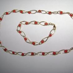 Superb colier si bratara aur 18 k - Set bijuterii aur