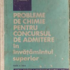 (C1431) PROBLEME DE CHIMIE PENTRU CONCURSUL DE ADMITERE IN INVATAMANTUL SUPERIOR, MARCULEIU, POPESCU, STRUGARU, EDP, BUCURESTI, 1971, EDITIA A III-A - Teste admitere facultate