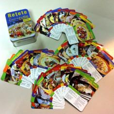 Retete culinare- paste/Cutie metalica cu 50 retete/ Bonus: mașină răzătoare.