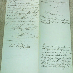 Document halmagiu 1871 stare foarte buna - Pasaport/Document, Romania pana la 1900