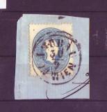 1858 austria Mi. 22  tip 1 stampilat