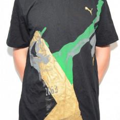 Tricou PUMA Bolt 505381, ORIGINAL, bumbac, negru - Tricou barbati Puma, Marime: M, L, XL, Maneca scurta
