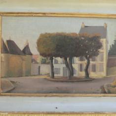 PEISAJ RURAL - ULEI PE PANZA -  PICTURA VECHE - SEMNAT M.PRADOUX, Peisaje, Impresionism