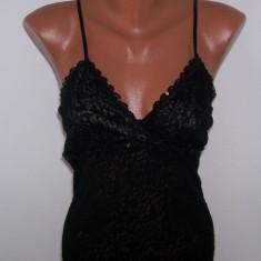 Top dama seara transparent Forever 21 negru USA, Marime: XS, Fara maneca