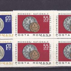 Centenar moneda 92  nr Li 646  blok 4  Romania., Nestampilat